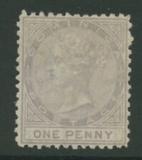 Dominica SG1 1874 1d Mounted Mint P12.5