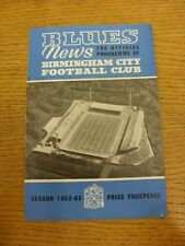 09/03/1963 Birmingham City v Wolverhampton Wanderers  (creased, number on front)