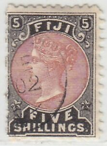 FIJI  1882  ISSUE USED STAMP FIVE SHILLINGS  SCOTT 45 = SG.69