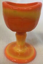 Eyebath Eyewash Eyecup Eye Rinse - Orange Glass - Westmoreland mould USA