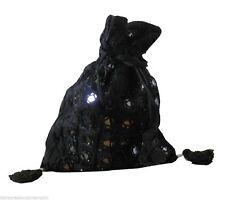 Indian Womens Shoulder Mirrorwork Design Handbag Black Cotton Bag New For Sale