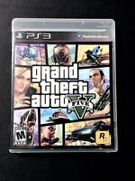 Grand Theft Auto V GTA 5 PlayStation PS3 Game Complete w/ Map & Manual Car Race