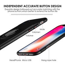 Hybrid Slim Sports Magnetic Plate Stand Back Cover Case Black for Apple iPhone X