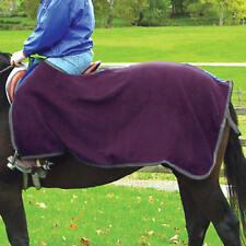NEW Coronet High Spirit Fleece Quarter Sheet - Burgundy / Gray