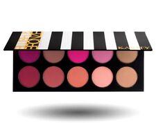 10 Pigmented Professional Blush & Bronzer Palette Makeup Kit Set Pro Palette &