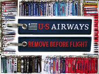 Keyring US AIRWAYS Remove Before Flight tag keychain