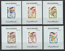 Ras al-Khaima, 1972, Sport, Olympic games, Munich, DELUX BLOCKS, NUMBERED, MNH**