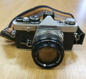 Olympus OM-2 35mm SLR Film Camera with 50 mm lens With Case #639