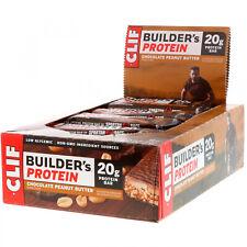 Clif Bar, Builder's Protein Bar, Chocolate Peanut Butter, 12 Bars, 2.4 Oz (68