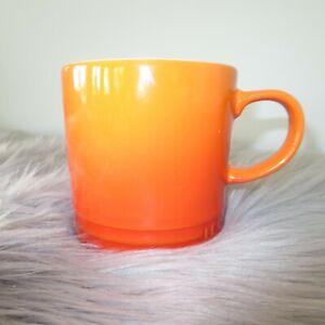 LE CREUSET VOLCANIC FLAME ORANGE 12 OZ COFFEE MUG- Set of 4 Available!