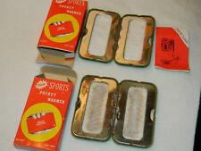 2 vintage chaufferette chauffe rechauffe main FUEL Pocket Hand Warmer HANDWARMER