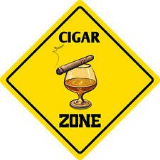"*Aluminum* Cigar Zone Funny Metal Novelty Sign 12""x12"""