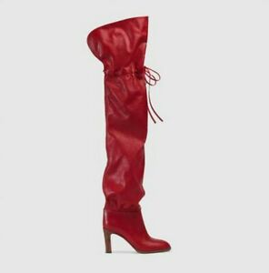 Women Ladies Occident Pointy Toe  Over Knee Thigh High Boots Party Shoes Pumps L