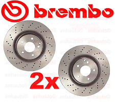 Set of 2 BREMBO Front Rotors  C240 C280 C320 CLK350 SLK350 with Sport Package
