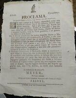1797 257) PROCLAMA OCCUPAZIONE FRANCESE DI MODENA SU AFFLUENZA IN TEATRO