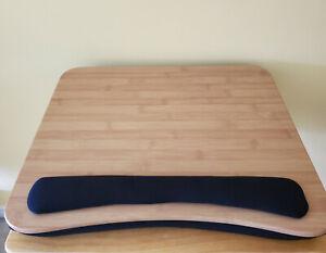 Sofia +Sam Lap Desk. Wooden Surface. Black Padding underneath with wrist rest