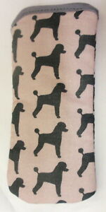 POODLES ALL OVER  - GLASSES CASE - cotton- ideal small gift