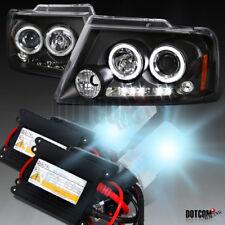 Slim HID Conversion Kit+2004-2007 Ford F150 Black Halo LED Projector Headlights