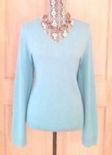 NWT TALBOTS 100% CASHMERE V-Neck Sweater ~ XL ~ Blue
