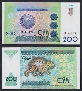 Uzbekistan 200 sum 1997 FDS/UNC  C-09