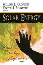Solar Energy: Research Technology and Applications - New Book