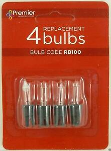 Pack Of 3 - Clear Replacement Spare Bulbs With 1 Fuse Bulb 2.5v 0.33w (SB9)