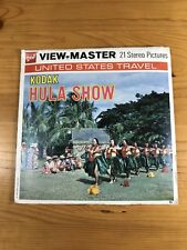 Vintage 3D View-Master 3 Reels US Travel Hula Show 1974 Hawaii Kodak GAF A122