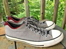 CONVERSE Dark Gray & Red Chevron Zig Zag Sneakers Shoes Mens Sz 9 Womens 11 👞b5