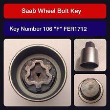 """Genuine Saab locking wheel bolt / nut key FER 1712 106 """"F"""""""