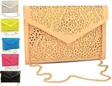 CUTOUT PATCHWORK ENVELOPE Handbag Shoulder Purse Bag Clutch Cross Body Women UK
