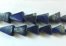 Lapis Lazuli, Good Quality Triangles,  With Pyrite Highlights, Bag of 10 Beads