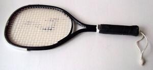 "Vintage Spalding Smasher Black Metal 4⅜"" Racquetball Racquet 54-4237"