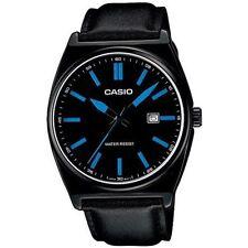 Casio collection watch man analog leather strap cinturino pelle nero edifice uhr