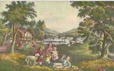 CURRIER and IVES The Four Seasons Of Life: Childhood 1952 Print Children Playing