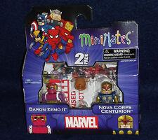 Marvel MiniMates Series 50 BARON ZEMO II & NOVA CORPS CENTURION Figure 2 PK