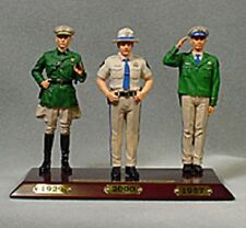CALIFORNIA HIGHWAY PATROL FIGURINES NEW COLLECTIBLE UNIFORMS 1929 1957 and 2000