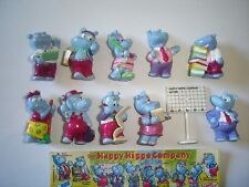 KINDER SURPRISE SET - HAPPY HIPPOS OFFICE COMPANY 1994 - FIGURES COLLECTIBLES