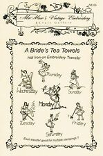 M106 1940s New Bride Towels DOW Embroidery hot iron transfer