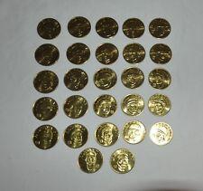 27 Coin Set Brass Slammer MLB 1992 Sports Stars Collectors Coins Kirby Puckett