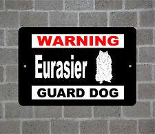 Eurasier warning Guard Dog breed metal aluminum sign
