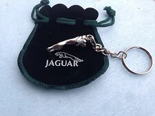 Jaguar Leaping Cat Chrome Mascot Keyring With   Presentation Pouch  bd4-g3