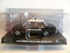 "ALFA ROMEO GIULA 1600 SUPER POLICE ITALIENNE "" CARABINIERI "" de 1970 ~  NEUF"