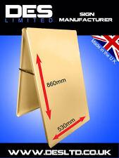 Budget Ivory Steel Metal A Board Pavement Menu Sandwich Advertise  Sign Cheap