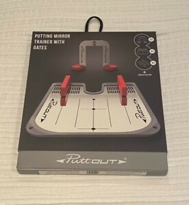 PuttOut pressure putt trainer with practice putting mirror (ultimate set)