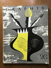1949 GRAPHIS Graphic & Applied Art Journal SAUL STEINBERG Rouault GIUSTI Bühler