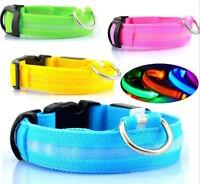 LED COLLAR Pet Dog Night Safety Gear harness leash Light size chart XS S M L XL