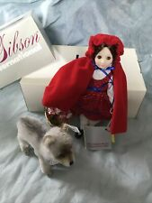 Suzanne Gibson Reeves Little Red Riding Hood 9� Tall w/ Steiff Wolf