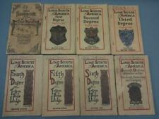 1920's Official Handbook Lone Boy Scouts of AmericaTepee Lodge Book 1-7 + Extra
