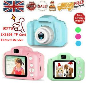 Mini Digital Children Camera HD 1080P LCD Camera Toy Kids Gift +32G TF Card UK