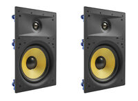 """2 Pack - TDX 6.5"""" 2-Way In Wall Home Theater Surround Sound Speaker Flush Pair"""